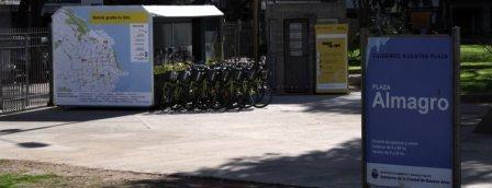 Estación 17 - Plaza Almagro [Ecobici] is one of Estaciones de Ecobici de la Ciudad de Buenos Aires.