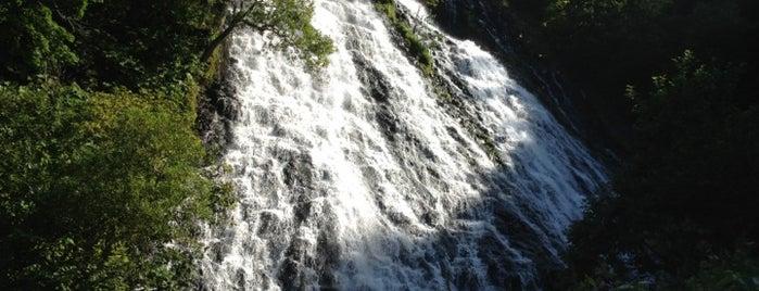 Oshinkoshin Falls is one of 日本の滝百選.