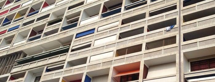 Cité Radieuse Le Corbusier is one of Outdoors.