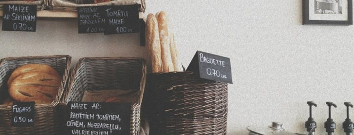 BOULANGERIE is one of worth visiting in Liepaja.