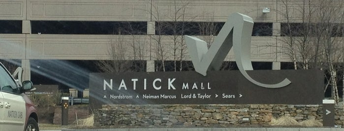 Natick Mall is one of just a list of places.