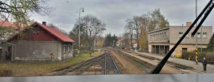 Železniční stanice Třebíč is one of Trať 240 Brno - Jihlava.