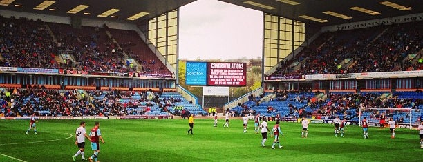 Turf Moor is one of Football grounds visited.