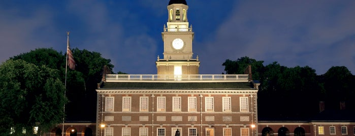 Independence Hall is one of Historic Philadelphia.
