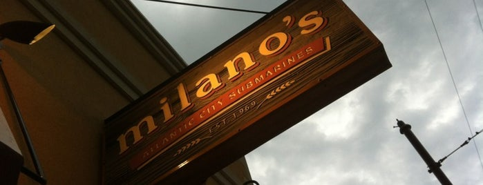 Milano's Pizza, Subs & Taps is one of UD.