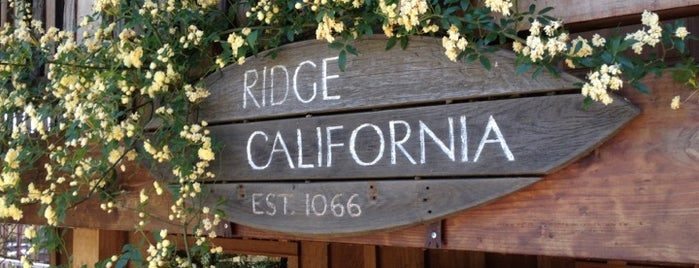 Ridge Vineyards - Monte Bello is one of Nor Cal Destinations.
