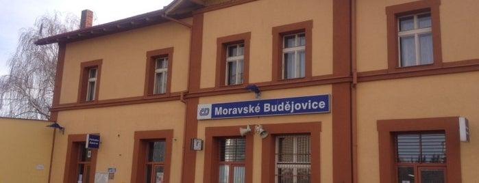 Železniční stanice Moravské Budějovice is one of Železniční stanice ČR: M (7/14).
