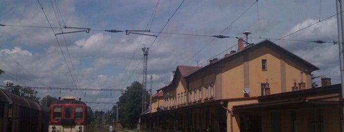 Železniční stanice Písek is one of Železniční stanice ČR: P (9/14).