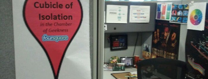 Cubicle of Isolation (in the Chamber of Geekness) is one of Keith's Favorite Places.