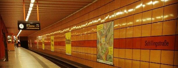 U Schillingstraße is one of U-Bahn Berlin.