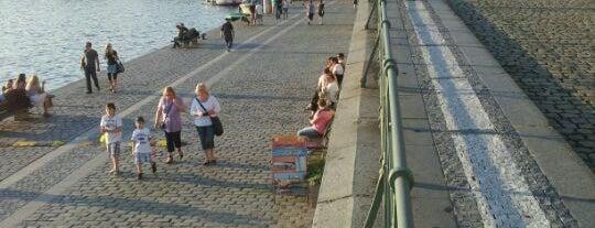 Pražská náplavka   Vltava Riverside is one of Historická Praha.