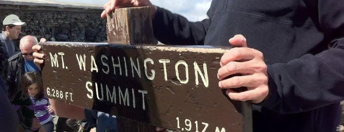 Mount Washington Summit is one of White Mountains.