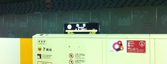 Shiroishi Station (T13) is one of 札幌市営地下鉄 東西線.