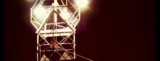 Moonlight Tower (Barton Springs) is one of Austin's Moonlight Towers.