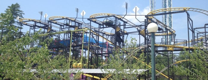 Gotham City Gauntlet Escape from Arkham Asylum is one of ROLLER COASTERS.