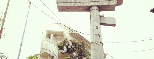 山王神社二の鳥居 (一本柱鳥居) is one of 長崎市 観光スポット.