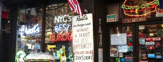 "Paul's ""Da Burger Joint"" is one of East Village."