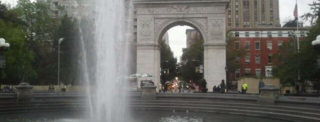 Washington Square Fountain is one of Park Highlights of NYC.