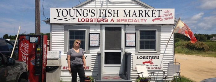 Young's Fish Market is one of Ultimate Summertime Lobster Rolls.