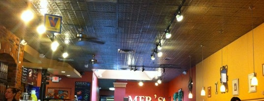 Amer's Mediterranean Deli is one of Free WiFi.