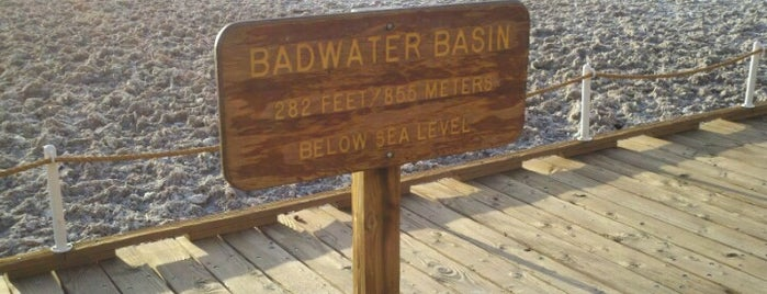 Badwater Basin is one of Geographic Extremes.