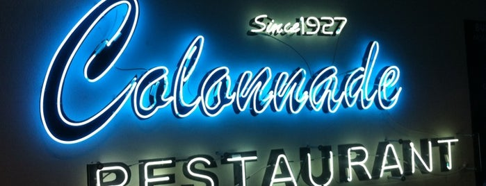 "The Colonnade Restaurant is one of ""Diners, Drive-Ins & Dives"" (Part 1, AL - KS)."