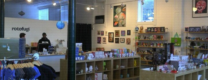 Rotofugi Gallery is one of Buy Local Guide: Quirky and Kid-Friendly Shops.