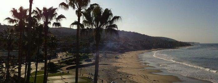 Laguna Beach Boardwalk is one of Beach Bouncing in So Cal.