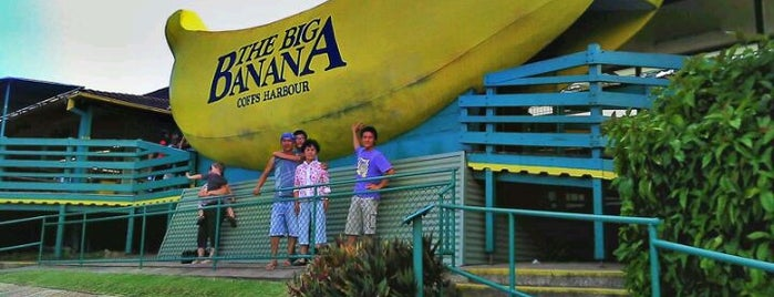 Big Banana is one of Buildings Shaped Like the Food They Serve.