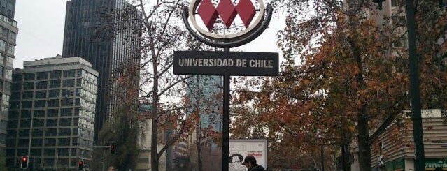 Metro Universidad de Chile is one of Estaciones del Metro de Santiago.