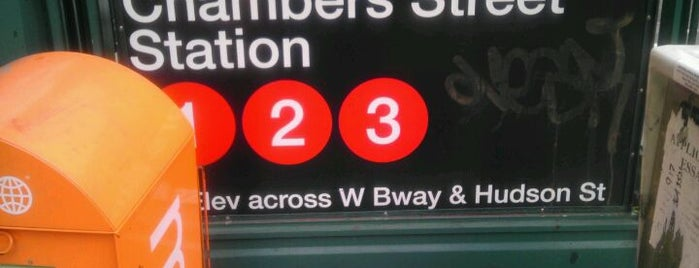 """MTA Subway - Chambers St (1/2/3) is one of """"Be Robin Hood #121212 Concert"""" @ New York!."""