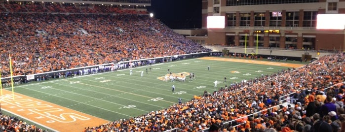 Boone Pickens Stadium is one of Mike Gundy's Favorite Places.