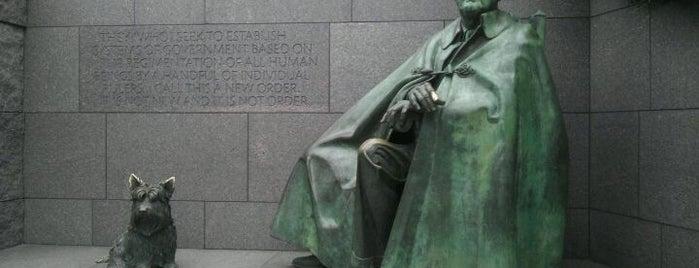 Franklin Delano Roosevelt Memorial is one of December in DC.
