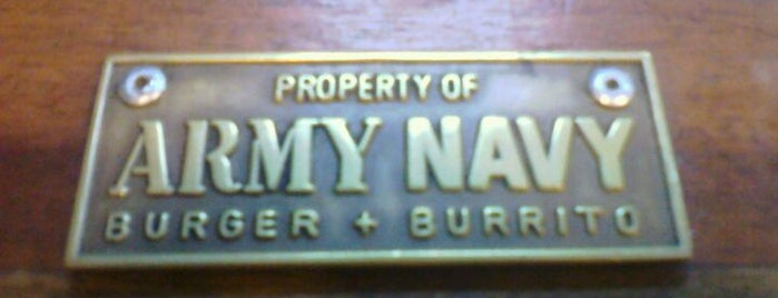 Army Navy Burger + Burrito is one of Faves!.