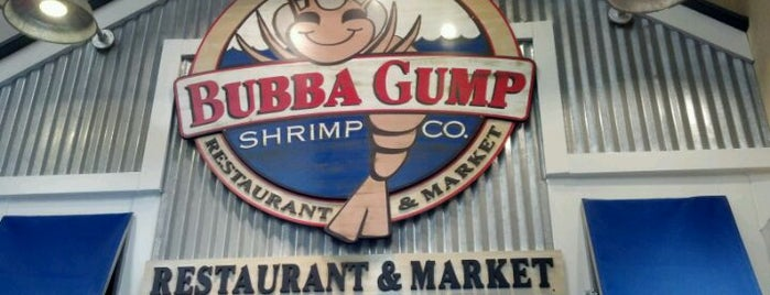 Bubba Gump Shrimp Co. is one of Pinpointed locations.