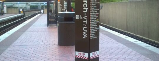 West Falls Church-VT/UVA Metro Station is one of WMATA Train Stations.