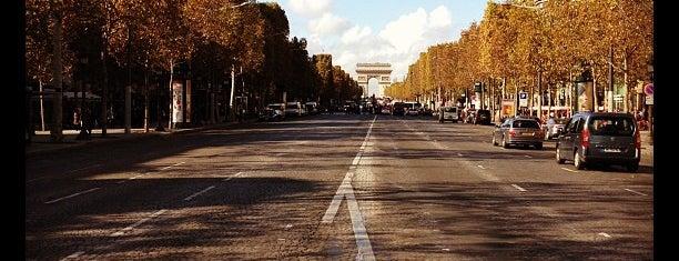 Avenue des Champs-Élysées is one of Paris.