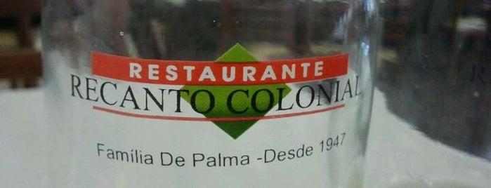 Restaurante Recanto Colonial is one of Restaurantes.