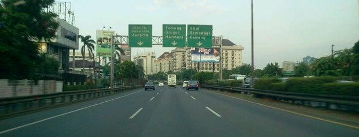 Jalan Tol Lingkar Luar Jakarta Seksi W2 Selatan (JORR W2 S) is one of Jakarta. Indonesia.