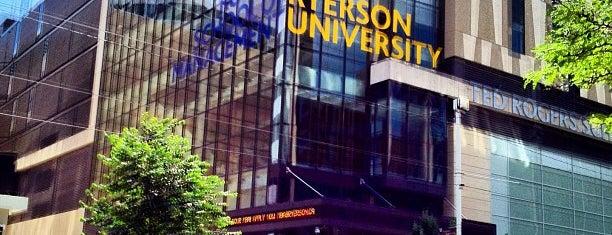 Ryerson University is one of Toronto.