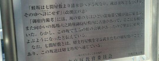 蛙坂 is one of 坂道.