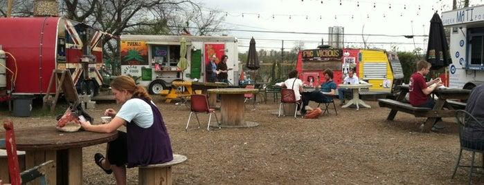 Trailer Food Court is one of Great Spots for Cyclists in Austin.
