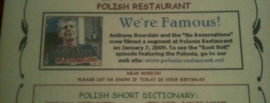 Polonia Restaurant is one of Detroit Lunch Bus.