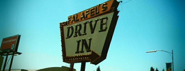 "Falafel's Drive-In is one of ""Diners, Drive-Ins & Dives"" (Part 1, AL - KS)."