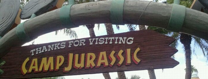 Camp Jurassic is one of Universal Studios.