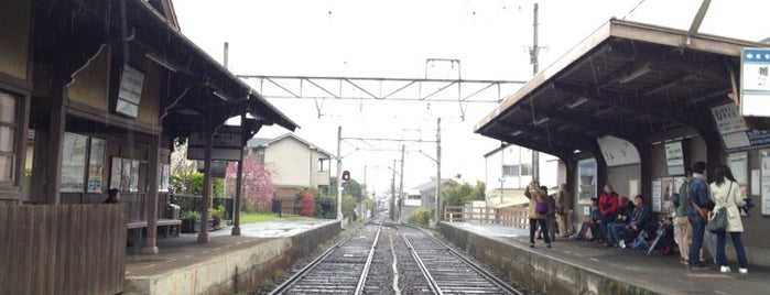 Omuro-Ninnaji Station (B5) is one of 嵐電.