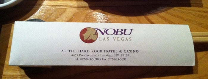 Nobu at the Hard Rock Hotel is one of Las Vegas extended.