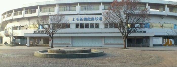 上毛新聞敷島球場 is one of Japan Baseball Studium.