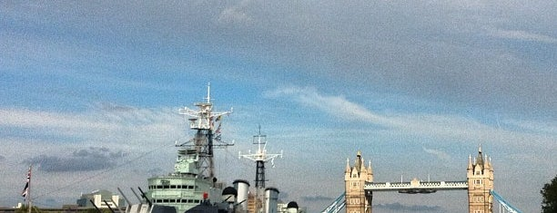 HMS Belfast is one of Hand Drawn Map of London.