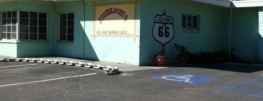 "Emma Jean's Holland Burger Cafe is one of ""Diners, Drive-Ins & Dives"" (Part 1, AL - KS)."